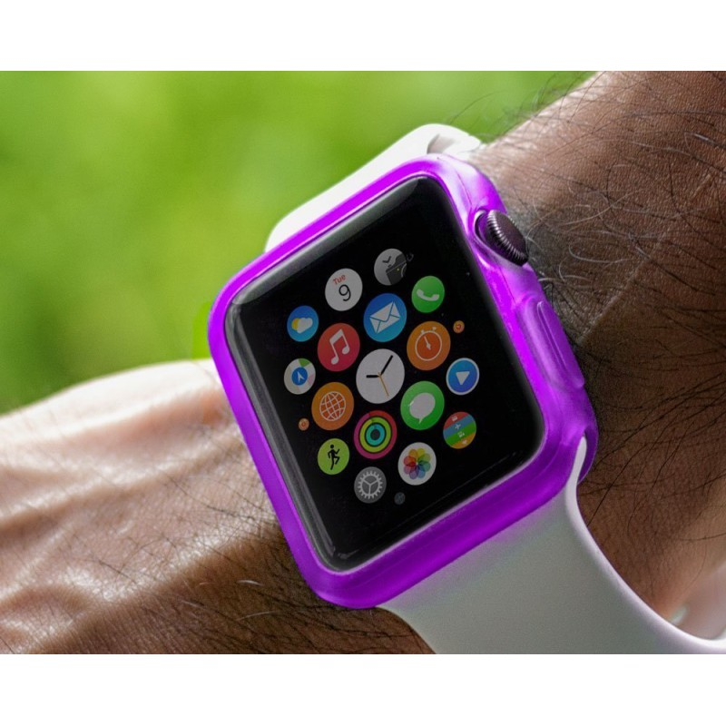 coque en gel souple violet pour montre apple watch. Black Bedroom Furniture Sets. Home Design Ideas