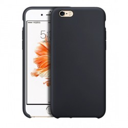 Coque iPhone 6-6S grise soft touch