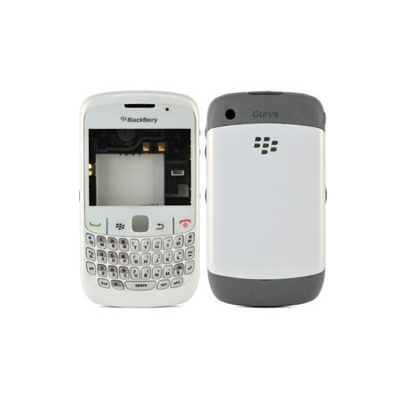 Coque complete blackberry 8520 blanche