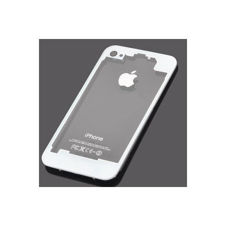 Coque arriere iphone 4 blanc transparent