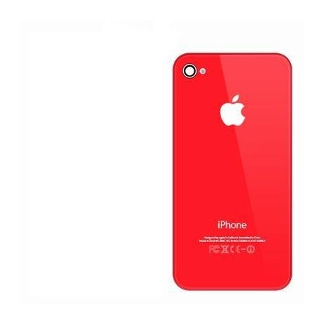 Coque arriere iphone 4s rouge