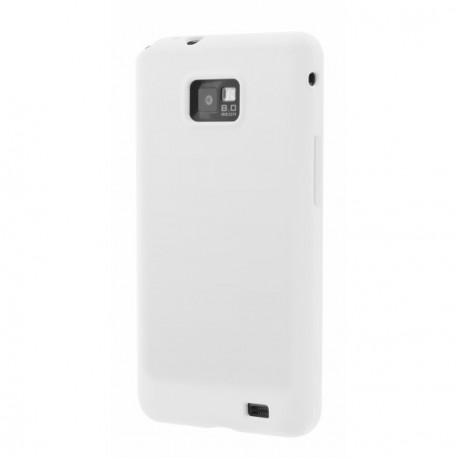 Housse gel blanc glossy i9100 galaxy s2