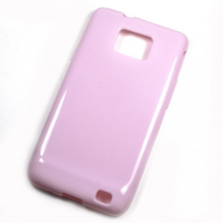 Housse gel rose samsung galaxy s2
