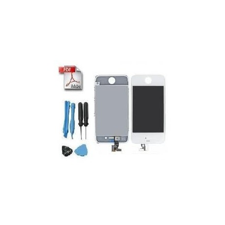Kit réparation ecran iphone 4s blanc retina