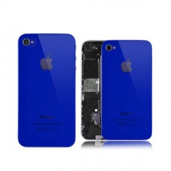Coque arriere iphone 4 bleue