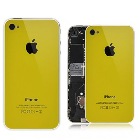 Coque arriere iphone 4s jaune