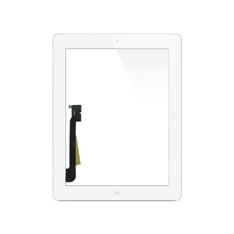 Vitre tactile ipad 3 new ipad blanc