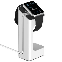 Support de chargement Apple watch blanc