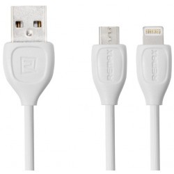 Cable lightning et usb 2en 1 Remax 2m