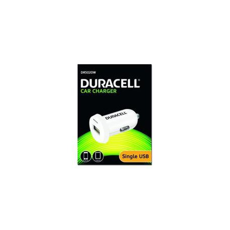 Chargeur voiture Duracell blanc