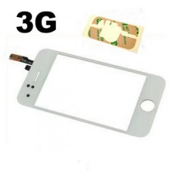 Vitre tactile iphone 3g blanche