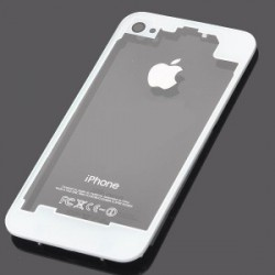 Coque arriere iphone 4s blanc transparent